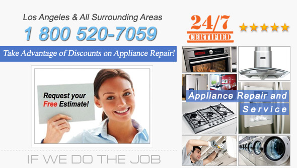 Appliance Repair and Service. Tel: 1 800 520-7059